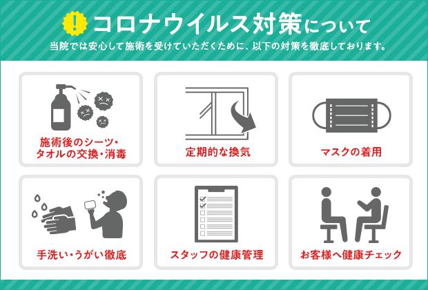 鶴ヶ島にある当院はコロナ対策を徹底している整骨院です
